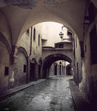 Narrow street in Florence Stock Images