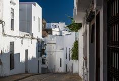 Narrow street of Vejer de la Frontera Stock Image