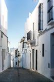 Narrow street of Vejer de la Frontera Royalty Free Stock Photo