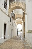 Narrow street at Vejer village Stock Images
