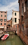 Narrow street in Venice Stock Images