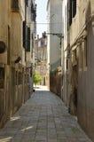 Narrow street in Venice Stock Image