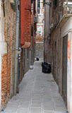The narrow street in Venice Stock Image