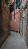 The narrow street in Venice Royalty Free Stock Photography