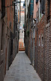 The narrow street in Venice Stock Images