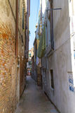 A Narrow Street in Venice, Italy Stock Images