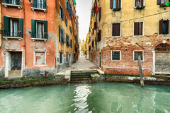 Narrow street in Venice, Italy Stock Photos