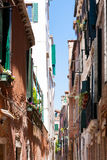Narrow street from Venice, Italy Royalty Free Stock Photos
