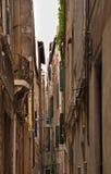 Narrow street in Venice. Veneto. Italy Royalty Free Stock Photography