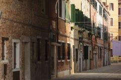 Narrow street in Venice, Veneto, Italy, Europe Stock Photography