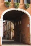 Narrow street in Venice, Veneto, Italy, Europe Stock Photo