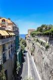 Narrow street of Via Luigi de Maio. Sorrento. Italy stock images