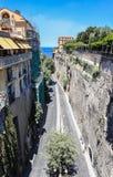 Narrow street of Via Luigi de Maio. Sorrento. Italy stock photos