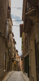 Narrow street in Vic Royalty Free Stock Image