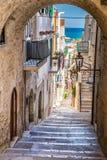 Vieste, Gargano Peninsula, Apulia region, Italy. Narrow Street Of Vieste, Gargano Peninsula, Apulia region, Italy, Europe royalty free stock image