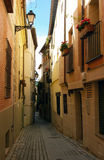 Narrow street view. Stock Photography