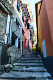 Narrow Street in the Village of Manarola Stock Photo
