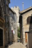 Narrow street in the village of Vence in France Royalty Free Stock Images