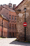 Narrow Street of Vilnius Old Town Stock Images