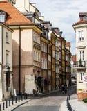 Narrow street in Warsaw Stock Photo