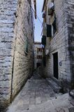 Narrow Street and the washing Stock Images