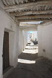 Narrow street with whitewashed houses in Alpujarras Stock Photography