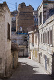 The narrow streets of the ancient Turkish city Stock Image