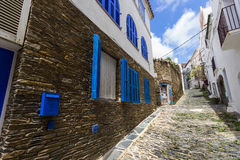 Narrow streets in Cadaques. Spain royalty free stock photos