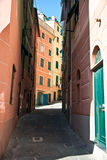 Narrow streets - Camogli Royalty Free Stock Images