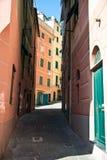 Narrow streets - Camogli Royalty Free Stock Images