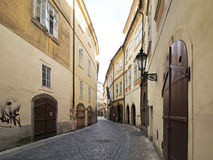 Narrow streets in the centre of Prague. Stock Images