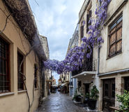 Narrow streets in Chania, Greece Stock Photo