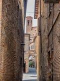 Narrow streets in Citta della Pieve in Umbria Stock Image