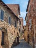 Narrow streets in Citta della Pieve in Umbria Stock Photos