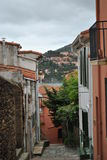 Narrow streets of Collioure Royalty Free Stock Photos