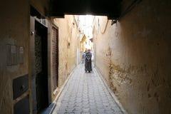 Narrow streets of Fez stock image