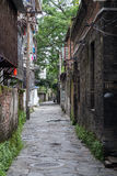 Narrow streets of Guilin on the banks of Li river,  China Stock Photo