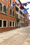Narrow streets and historic buildings in Venice, Italy Royalty Free Stock Photo