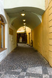 The narrow streets in the historic center of the Old Town of the Prague. Royalty Free Stock Photography