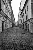 The narrow streets in the historic center of the Old Town of the Prague Royalty Free Stock Photos