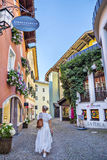 Narrow streets of historical center of Kitzbuhel Royalty Free Stock Images