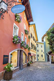 Narrow streets of historical center of Kitzbuhel Stock Image