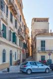 Narrow streets of historical city center of Kerkyra Stock Photography
