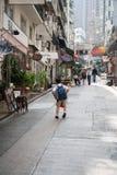 Narrow streets of Hong Kong Stock Image