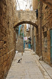 The narrow streets in Jerusalem Stock Image