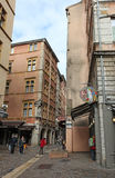Narrow streets in Lyon, France Stock Images