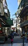 Narrow streets of Macau downtown. Stock Photography