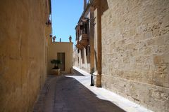 The narrow streets of Mdina. Malta Royalty Free Stock Image