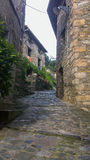 Narrow streets of medieval times Stock Photography