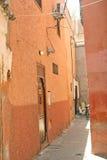 Narrow streets of medina in Marrakesh. Narrow streets of medina (old town) in Marrakesh Stock Image